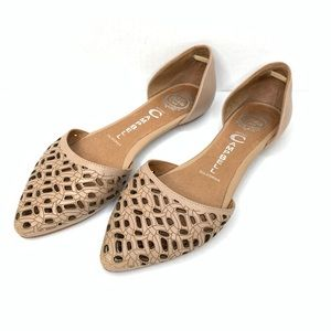 NEW Jeffrey Campbell In Love D'Orsay Flats Laser